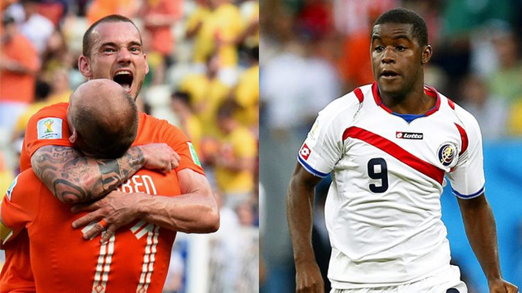 (Les Pays-Bas de Sneijder affronteront le Costa Rica de Campbell le 5 juillet. © Maxppp)