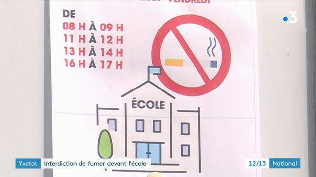 Yvetot : interdiction de fumer devant l'école