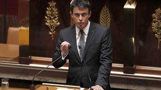 Le Premier ministre, Manuel Valls, à l'Assemblée nationale, mardi 5 juillet 2016. (THOMAS SAMSON / AFP)