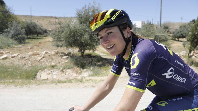 La Néerlandaise Annemiek Van Vleuten (Orica-Scott). (MENAHEM KAHANA / AFP)