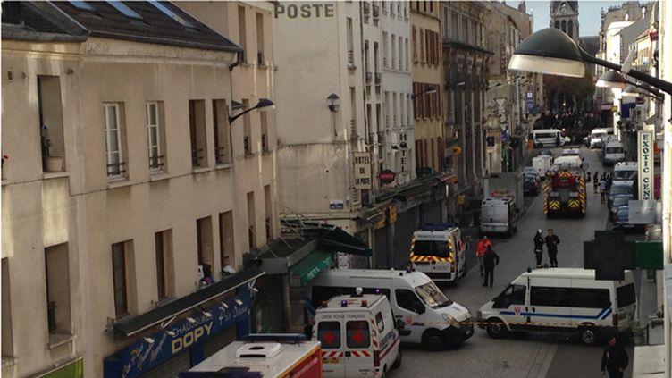(La rue de la République, à Saint-Denis © Aurélien Thirard / Radio France)