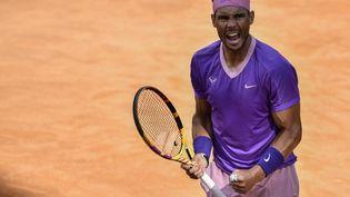 Rafael Nadal pourrait retrouver Novak Djokovic en finale de Rome. (FILIPPO MONTEFORTE / AFP)