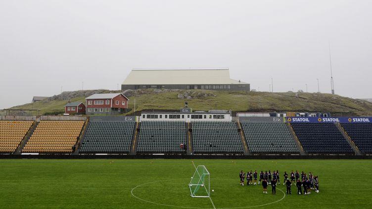 Les Bleus à l'entraînement avant un match amical contre les îles Féroé, le 11 août 2008. (FRANCK FIFE / AFP)