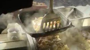Calvados : à Lisieux, des chalets pour les restaurateurs. (Capture d'écran/France 3)