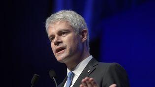 Laurent Wauquiez, président des Républicains, lors d'un discours au conseil national du parti, le 27 janvier 2018 à Paris. (FRANCOIS PAULETTO / CROWDSPARK / AFP)