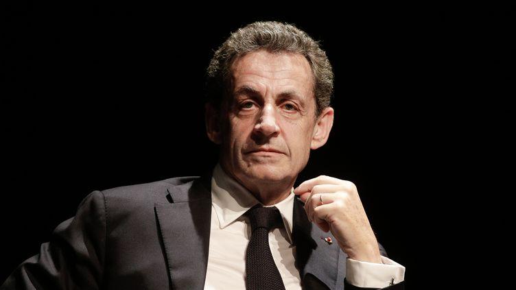L'ancien président Nicolas Sarkozy lors d'un rassemblement à Arcachon (Gironde), le 23 juin 2016. (THIBAUD MORITZ / AFP)