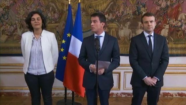 Le Premier Ministre, la ministre du Travail et le ministre de l'Economie ont rencontré les organisations étudiantes et lycéennes à propos du projet de loi travail, vendredi 11 mars à Matignon.