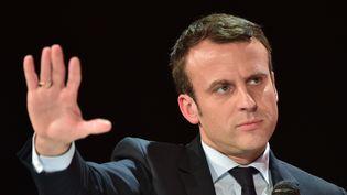 Emmanuel Macron, 31 janvier 20177 à Paris. (CHRISTOPHE ARCHAMBAULT / AFP)
