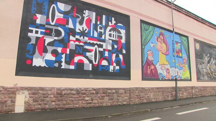 Une dizaine de nouvelles fresques sont visibles à Colmar. (CAPTURE D'ÉCRAN FRANCE 3 / C. LAEMMEL)