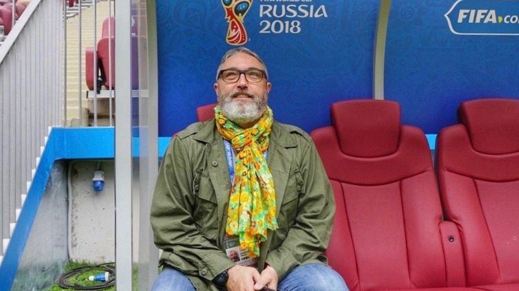 Franck Ballanger, journaliste au service des sports de franceinfo, sera à Sotchi jusqu'à samedi pour couvrir les premiers matchs du Mondial. (FRANCEINFO / RADIO FRANCE)