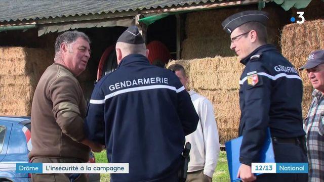 Drôme : les gendarmes mobilisés pour lutter contre la délinquance en milieu rural