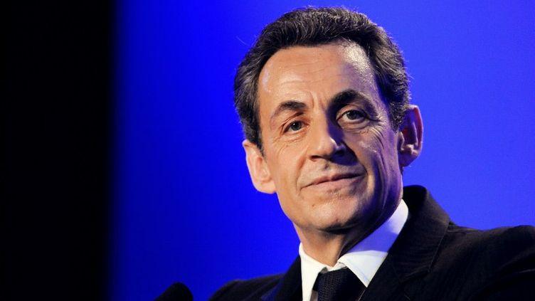 Nicolas Sarkozy le 4 mai 2012 aux Sables-d'Olonne (Vendée). (ALAIN JOCARD / AFP)