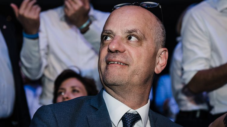 Leministre de l'Education nationale, Jean-Michel Blanquer, à Paris, le24 mai 2019. (KARINE PIERRE / HANS LUCAS / AFP)