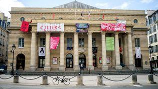 Le théâtre de l'Odéon à Paris, le 5 mai 2021. (BRUNO LEVESQUE / MAXPPP)