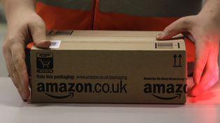 Un employé d'Amazon manipule un colis à Brieselang, en Allemagne, le 28 novembre 2013. (TOBIAS SCHWARZ / REUTERS)