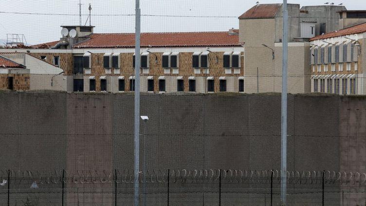 La prison de Perpignan (Pyrénées-Orientales), mardi 17 mars 2020, au premier jour du confinement en France pour arrêter la propagation du nouveau coronavirus. (RAYMOND ROIG / AFP)