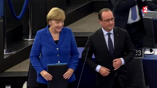 Parlement européen : vifs échanges entre François Hollande et Marine Le Pen