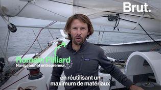 VIDEO. Le navigateur Romain Pilliard nous emmène dans son trimaran recyclé (BRUT)