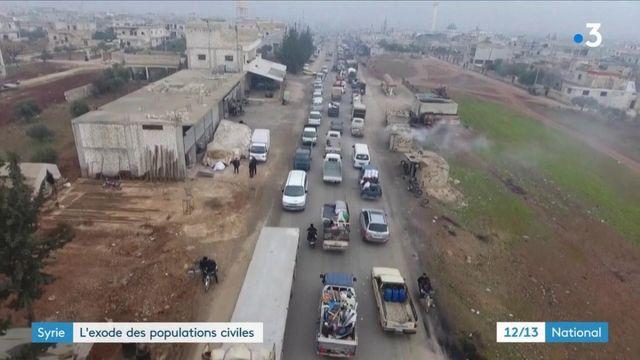 Syrie : l'exode des populations civiles