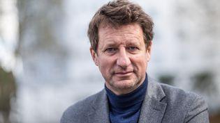 L'eurodéputé EELV Yannick Jadot à Lorient le 05 février 2021  pour soutenir la candidature écologistepour les elections regionales et departementales de Bretagne. (BAPTISTE ROMAN / HANS LUCAS / AFP)