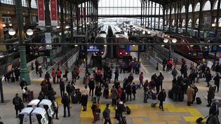 La gare du Nord lors de la précédente journée de grève à la SNCF, le 4 avril 2018 (CHRISTOPHE ARCHAMBAULT / AFP)