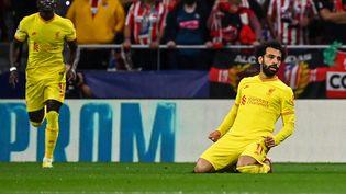 Mohamed Salah a ouvert le score face à Liverpool, mardi 19 octobre. (GABRIEL BOUYS / AFP)