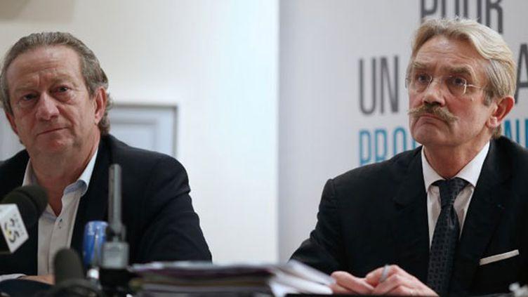 Jean-Pierre Louvel, le président de l'UCPF, et Frédéric Thiriez, le président de la LFP, étaient deux des principaux instigateurs de la grève.