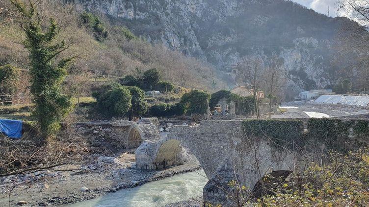 La vallée de la Roya le 2 octobre 2020, quatre mois après le passage de la tempête Alex. (ALAIN GASTAL / FRANCE-INFO)