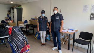 Slim Hadiji, médecin référent, et Djamila, médiatrice. (MATHILDE VINCENEUX / RADIO FRANCE)