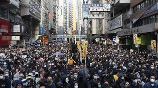 Une manifestation prodémocratie, le 8 décembre 2019 à Hong Kong. (DELPHIA IP / AFP)