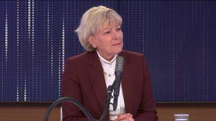 La professeureDominique Le Guludec, présidente de la Haute autorité de santé, invitée de franceinfo le 12 janvier 2021. (FRANCEINFO / RADIO FRANCE)