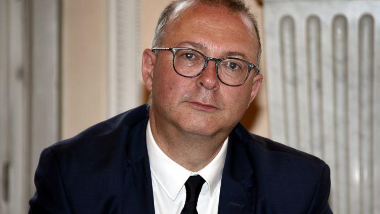 Damien Meslot, le maire de Belfort, le 3 juin 2019. (ALEXANDRE MARCHI / MAXPPP)