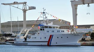 Le bateau André Malraux, un autre navire de laDRASSM. (GERARD JULIEN / AFP)