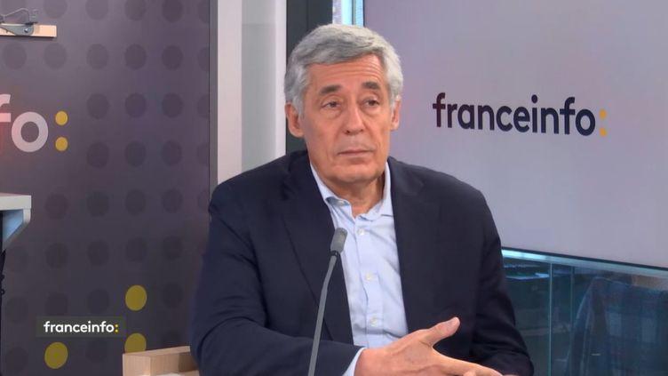 Henri Guaino, ancien ministre et ancien conseiller de Nicolas Sarkozy, invité de franceinfo le 30 septembre 2021. (FRANCEINFO)