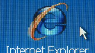 Le logo du navigateur Internet Explorer, en 2006. (MAXPPP)