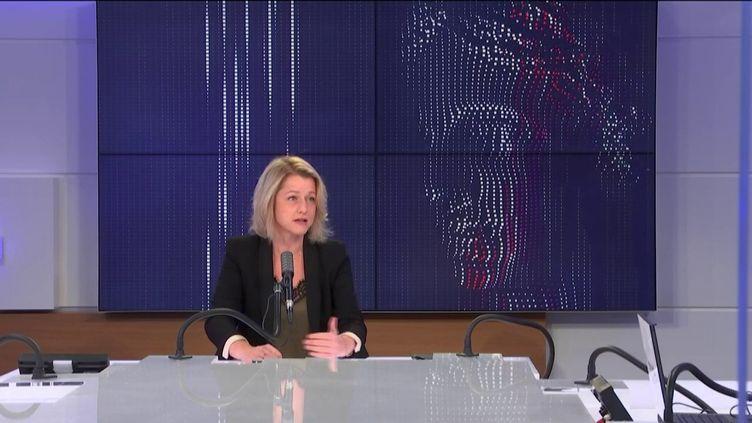 Barbara Pompili, ministre de la Transition écologique, invitée de franceinfo jeudi 8 octobre 2020.  (FRANCEINFO / RADIO FRANCE)