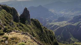 Le 13 Heures vous emmène à la découverte du cirque de Mafate, sur l'île de La Réunion, où le facteur distribue le courrier à pied de maison en maison. (France 2)