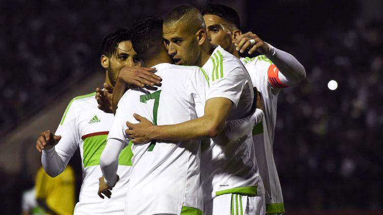 Les joueurs algériens heureux