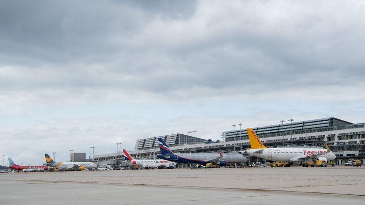 L'aéroport de Stuttgart, en Allemagne,le 7 septembre 2017. (SEBASTIAN GOLLNOW / DPA / AFP)