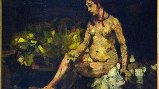 Bethsabée, d'après Rembrandt,Paul Cézanne,Collection particulière.1871-1874 ? (Rewald, vers 1870),Huile sur toile - 37 x 46 cm. (© COLLECTION PARTICULIÈRE)