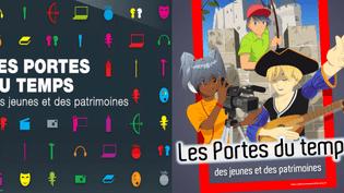"""Visuels des éditions 2011 et 2012 de l'opération """"Les Portes du Temps""""  (Ministère de la Culture)"""