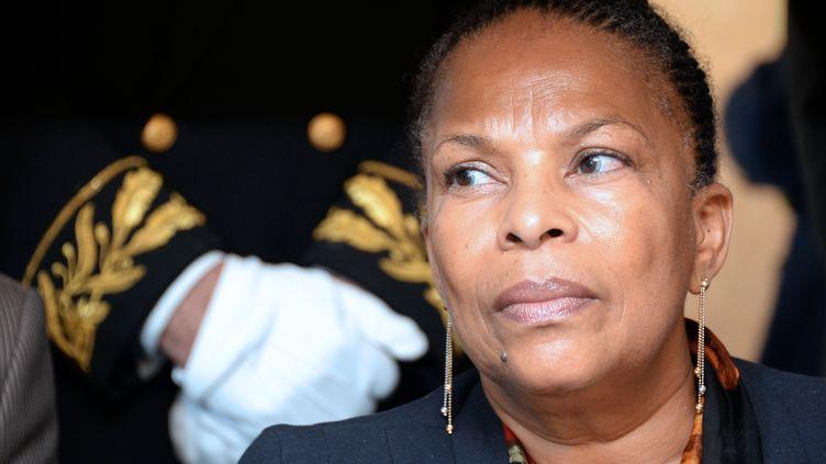 La ministre de la Justice, Christiane Taubira, le 27 septembre 2013 à Rennes (Ille-et-Vilaine). (DAMIEN MEYER / AFP)