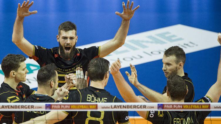 La joie des joueurs allemands  (JOHN MACDOUGALL / AFP)