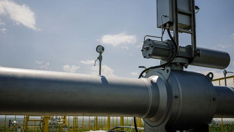 Un pipeline de gaz, le 3 août 2018 à Lozenets-Nedyalsko (Bulgarie). (DIMITAR DILKOFF / AFP)