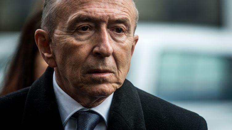 Gérard Collomb, le maire de Lyon, à Lyon, le 8 mars 2019. (NICOLAS LIPONNE / NURPHOTO / AFP)