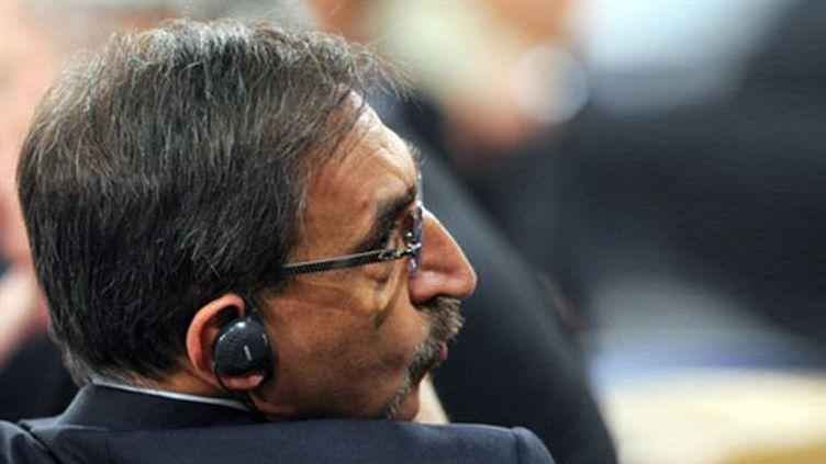 Le ministre italien de la Défense Ignazio La Russa, le 10 mars 2011 à Bruxelles pour la crise libyenne. (AFP/JOHN THYS)