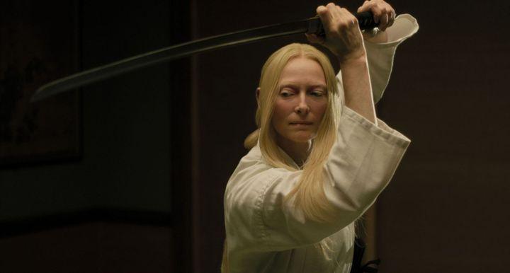 L'actrice britannique dans le film de Jim Jarmusch The Dead Don't Die (Copyright Abbot Genser / Focus Features / Image Eleven Productions, Inc.)