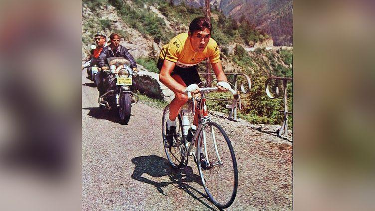 Eddy Merckx en jaune lors du Tour de France 1969. (OLIVIER PIRARD / ASAP / MAXPPP)