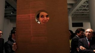 Aurelie Filippetti, ministre de la Culture, prend part à la 12e edition de laBiennaled'art contemporain deLyon, aux côtés de Gérard Collomb  (ALEXANDER ROTH-GRISARD/MAXPPP)