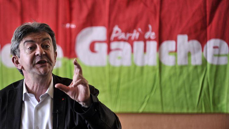 Jean-Luc Mélenchon, vendredi 22 août 2014 à Saint-Martin-d'Heres (Isère). (ROMAIN LAFABREGUE / AFP)